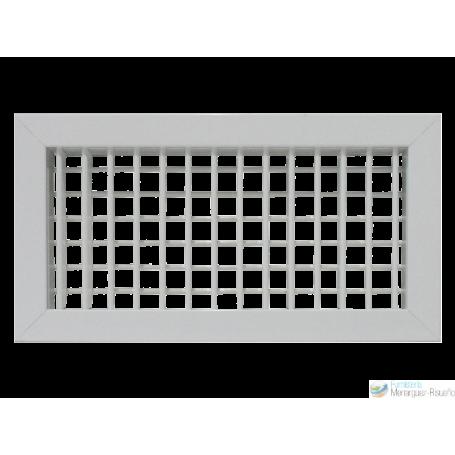 Rejilla Doble Deflexión Aluminio