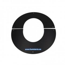 Embellecedor 45º Pellets Modular Negro