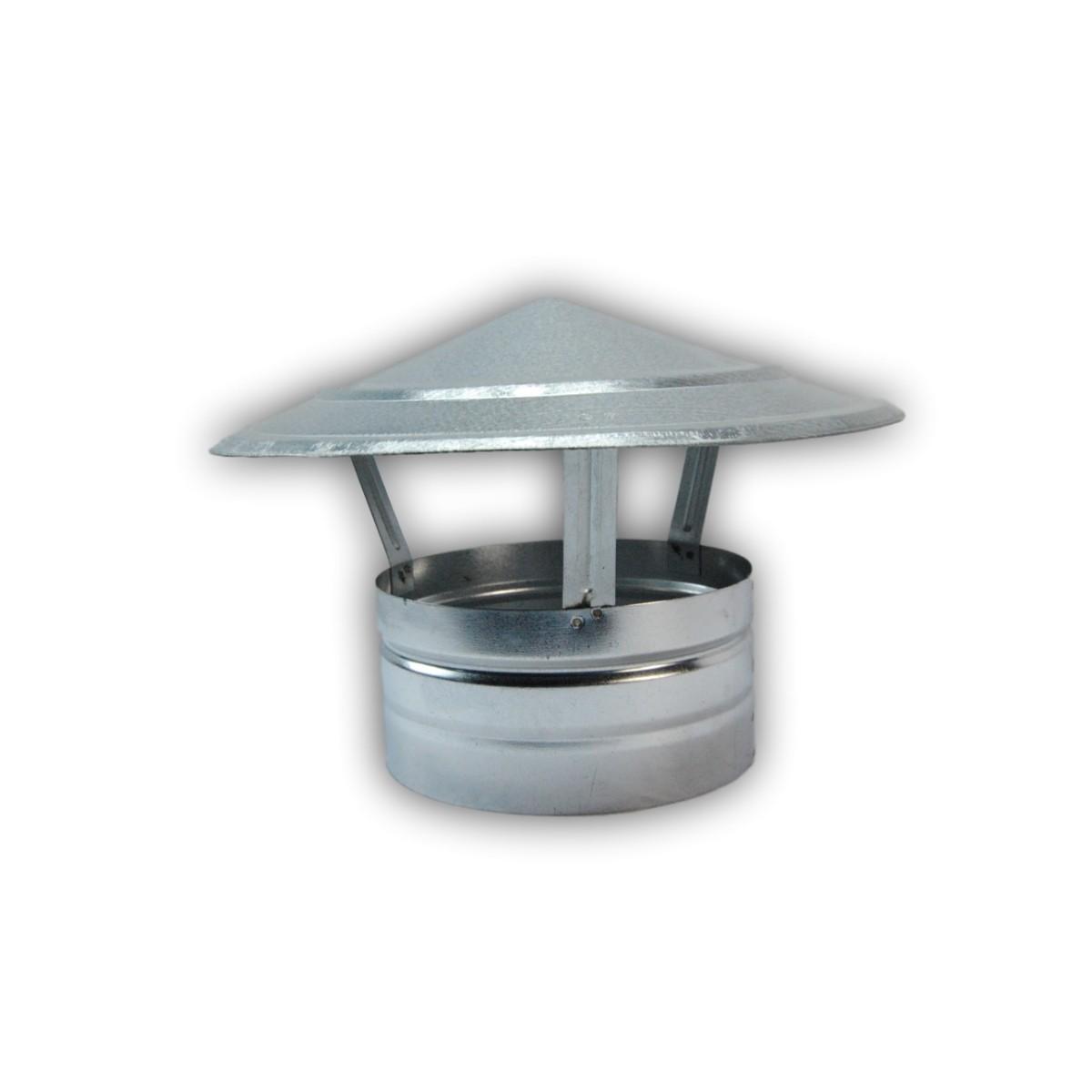 Sombrero chino con base cuadrada de acero inoxidable para chimenea