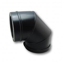 Codo 90º Modular Pellets Negro