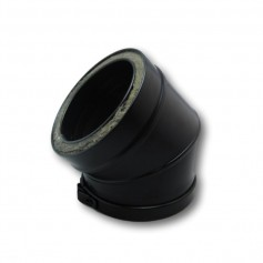 Codo 45º Modular Pellets Negro